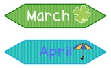 Months and Days of the Week Calendar Bulletin Board Set