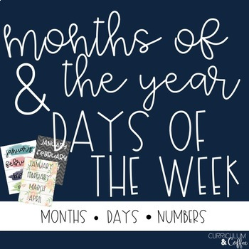 Months and Days of the Week Cards