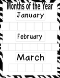 Months and Days of the Week Worksheet
