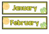 Months and Seasons Display