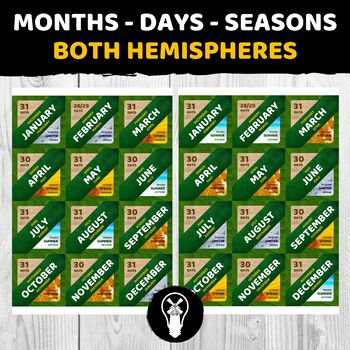Months and Seasons Game