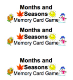 Months and Seasons Memory Card Game