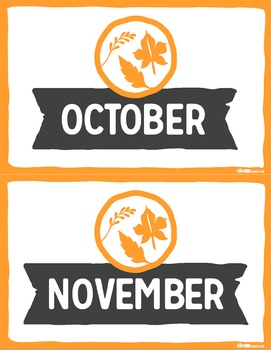 Months & Seasons Posters NORTHERN HEMISPHERE by Think BIG