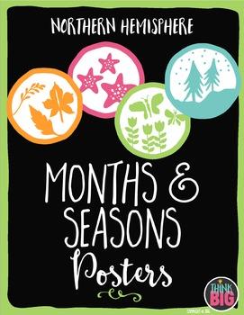 Months & Seasons Posters NORTHERN HEMISPHERE by Think BIG
