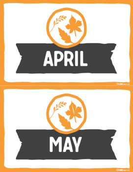 Months & Seasons Posters SOUTHERN HEMISPHERE by Think BIG