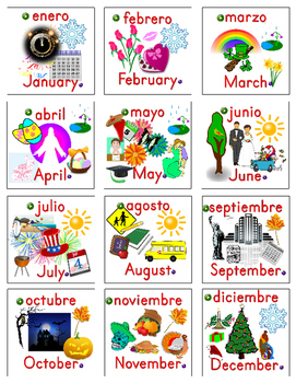 Months and Seasons Spanish Practice