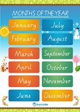 Months and Seasons of the Year - Australian A3 Poster