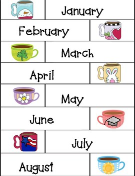 Months and Seasons vocabulary cards