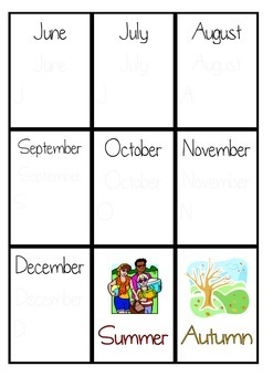 Months and season flashcards