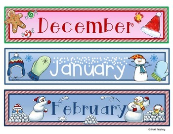 Months for your Classroom Calendar