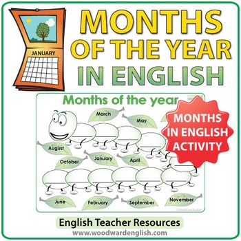 Months in English - The Caterpillar Activity