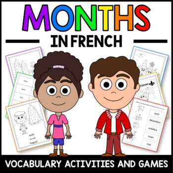 Months Activities and Games in French -  Les Mois