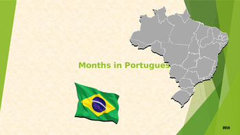 Months in Portuguese - PT BR/Brazilian