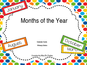 Months of Year (Primary Colors)