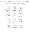Months of the Lunar calendar in Arabic