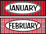 Months of the Year - Red & Black