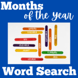 Months of the Year Worksheet | Months of the Year Word Search