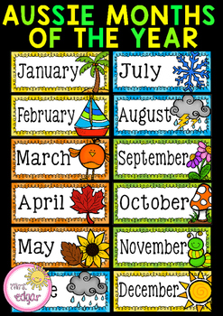 Months Of The Year Australian Seasons By Mrs Edgar Tpt