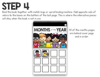 Months of the Year - An Adapted Book