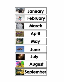 Months of the Year 3-Part Cards