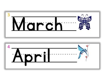 Months of the Year Aboriginal theme