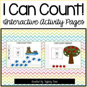 I Can Count - Interactive Activity Pages