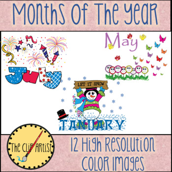 Months of the Year Clip Art