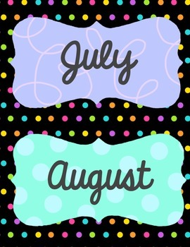 """Months of the Year 4""""x 5.5"""" Mini-Signs {FREE!}"""