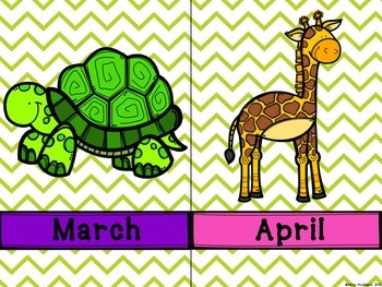 Months of the Year- Animal Themed