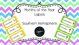 Months of the Year Australia and Southern Hemisphere
