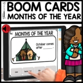 Months of the Year BOOM CARDS Distance Learning