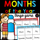 Months of the Year Bingo Game