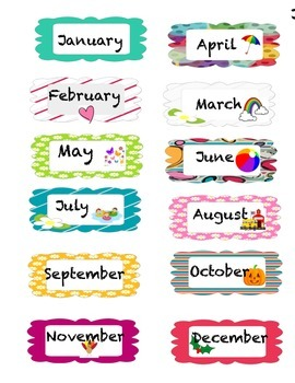 Busy Kids Learning Large Classroom Chart-Months of the Year | JOANN