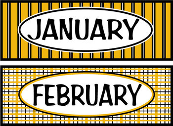 Months of the Year - Black & Gold