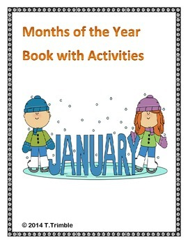 Months of the Year Book With Activities