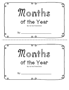 Months of the Year Booklet (August-July)