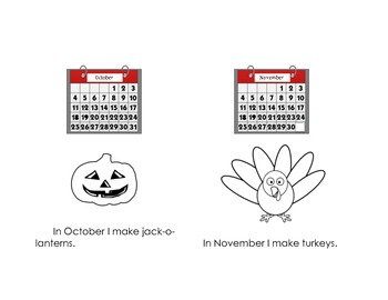 Months Mini Book -Printable book about the months of the year
