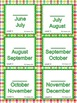 Months of the Year Sequencing Build Skills & Fluency Flash Cards Practice Pages
