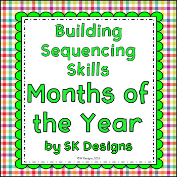 Months of the Year Sequencing Build Skills & Fluency Flash