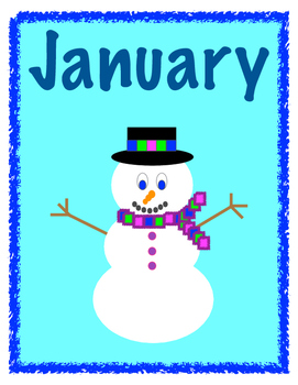 Months of the Year Bulletin