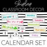 Months of the Year Calendar Set: Shiplap Chic