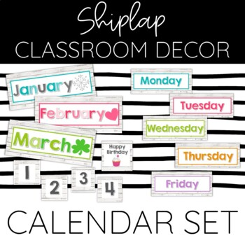 Months of the Year Bulletin Headers: Shiplap Chic