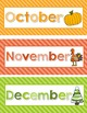 Months of the Year Bulletin Headers: Soft Bright Stripes