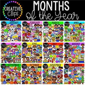 Months of the Year Bundle {Creative Clips Clipart}