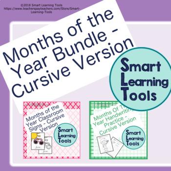 Months of the Year Bundle | Cursive Version