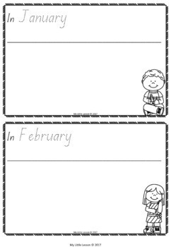 Months of the Year Bundle QLD Beginners Font: Worksheets, Posters, Concept Book