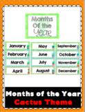 Months of the Year- Cactus / Succulent Theme