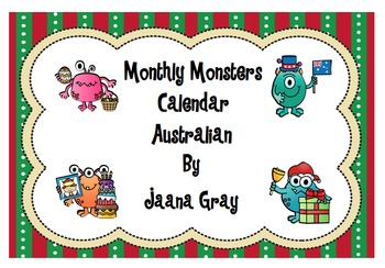 Months of the Year - Calendar Australian