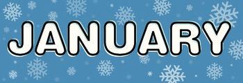 Months of the Year Calendar / Bulletin Board Headers - English