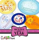 Months of the Year Calendar Clip Art Set